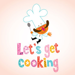 Let's get cooking decorative type with chef character