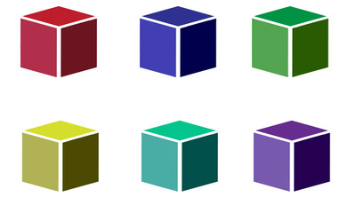 vector and logo of a colored cube