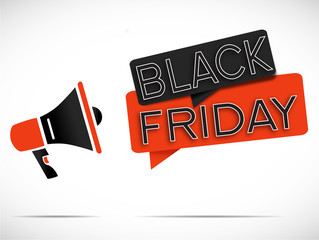 megaphone : black friday (noir/rouge)