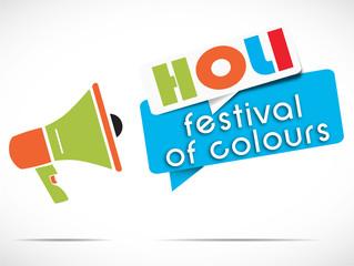 mégaphone : HOLI festival of colours