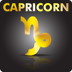 Astrology. Capricorn. Astrological sign from gold.