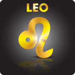 Astrology. Leo. Astrological sign from gold.
