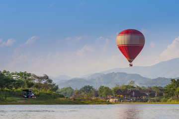Sightseeing with balloon in Vang Vieng, Laos