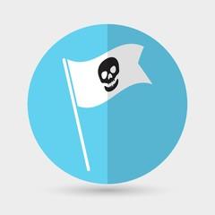 Skull icon on a white background