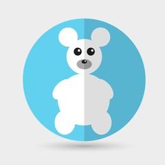 Teddy Bear Toy - Vector icon isolated
