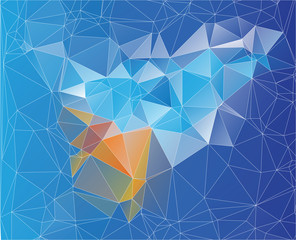 mosaic yellow blue low poly design
