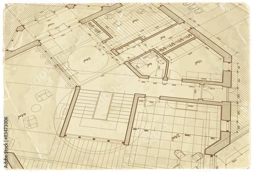 Architecture blueprint house plan old paper texture stock image architecture blueprint house plan old paper texture malvernweather Gallery