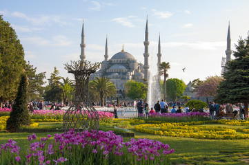 The famous Blue Mosque in Istanbul, Turkey.
