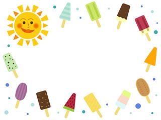 Summer Frame (Ice cream & Sun)