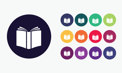 Open book icon set3