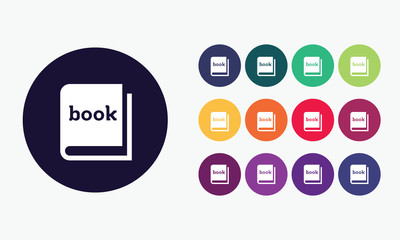 Book set icon - Vector