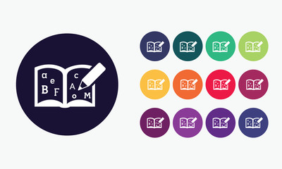 Educational book icon set3