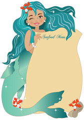 Mermaid with Seafood Menu