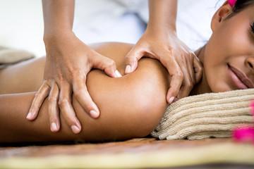 Close up of massage shoulder