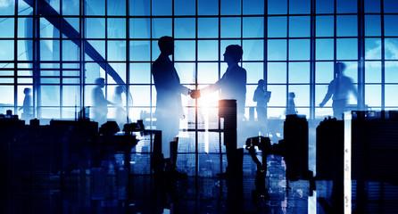 Business People Handshake Agreement Concept