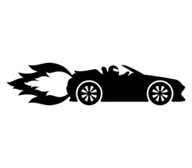 Vector sign. Fast car.