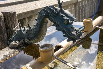 尾道の神社の手水舎
