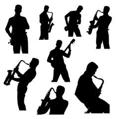 Saxophone, guitar player, set