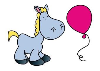 koń,balon,zabawa