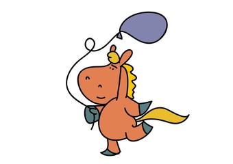 koń,konik urodziny,balon