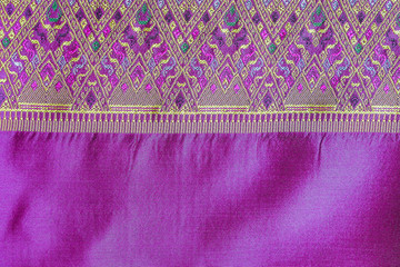 Asia silk fabric pattern background