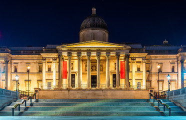 The National Gallery in Trafalgar Square, London
