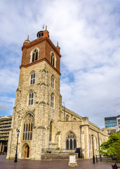 St Giles-without-Cripplegate church in London - England
