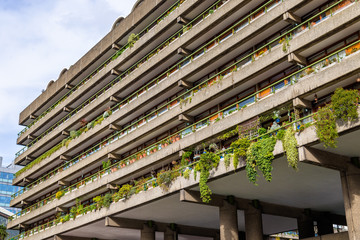 Lakeside terraces in Barbican Complex - London, England