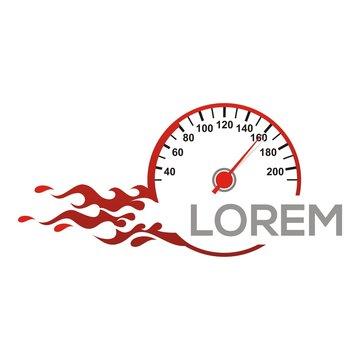 speedometer logo vector red race racing drag