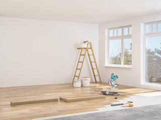 Obraz modernisierung einer wohnung - fototapety do salonu