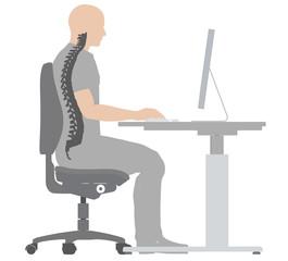 Richtige Sitzposition, Illustration