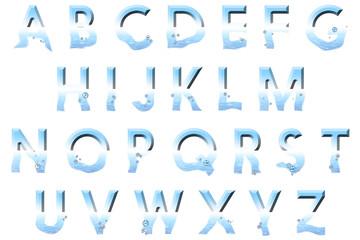 underwater alphabet collection