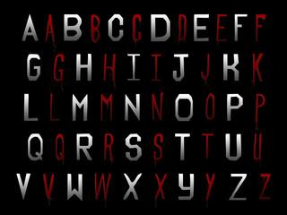 Halloween blood alphabet collection