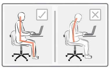 play computer in correct way vector
