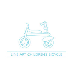 Line Art Childrens Bicycle One