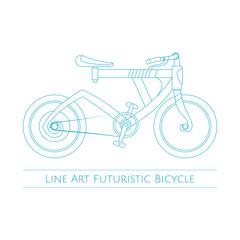 Line Art Futuristic Bicycle
