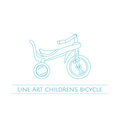 Line Art Childrens Bicycle Two