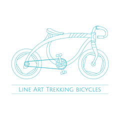 Line Art Trekking Bicycles One