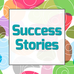 Success Stories Colorful Background