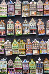 miniature canal houses in Amsterdam souvenir shop