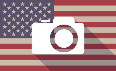 USA flag icon with a camera