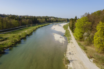 Isar river Munich Germany