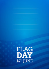 Flag day card background