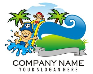 water games kids logo image vector