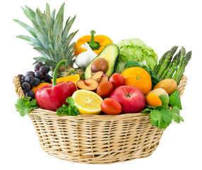 Fototapete - Fruits and vegetables