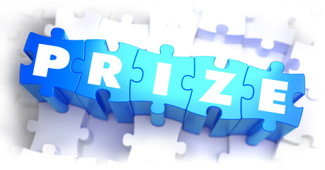 Prize - Text on Blue Puzzles.