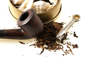 pipe with tobacco