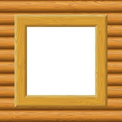 Wooden Framework on a Wall