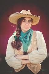 Portrait of modern day cowgirl