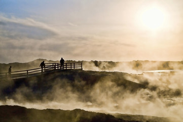 Iceland, Reykjanesta, Hot springs
